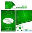 Football set vector image vector image