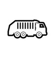 garbage truck icon design template isolated vector image