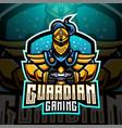 guardian gaming esports mascot logo design vector image vector image