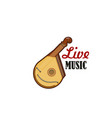 guitar bandura stringed folk music icon vector image