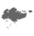 halftone dot singapore map vector image