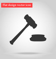 hammer for auction and judge in the vector image