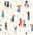 happy mothers day seamless pattern vector image