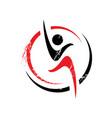 healthy people sport fitness logo design template vector image vector image