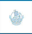 icon and logo for sea or fish asian food vector image vector image