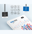 interview wallet and video camera icons internet vector image