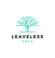 leafless tree logo icon vector image vector image