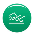 line chart icon green vector image vector image