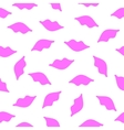 Lips seamless texture pink color vector image