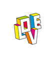 love 3d vector image