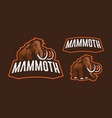 mammoth mascot logo design vector image