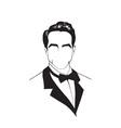 man in a tuxedo vector image