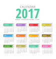 modern 2017 calendar design template vector image