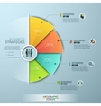 Modern business Infographics circle origami style vector image vector image