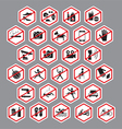 Park Building Store Public Prohibition Signs vector image