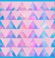 pink color triangle pattern vector image