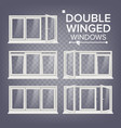 plastic window double-winged white pvc vector image vector image