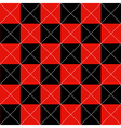 Red Black Chess Board Diamond Background vector image vector image