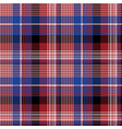 red blue pixel check seamless pattern vector image vector image