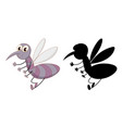 set insect cartoon character and its vector image vector image