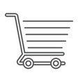 shopping cart thin line icon e commerce vector image vector image