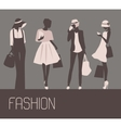 Sihlouette of Fashion women vector image
