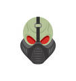 skull protective mask hell defender terrible vector image vector image
