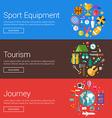 Sport Equipment Tourism Journey Flat Design vector image vector image