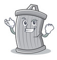 successful trash character cartoon style vector image vector image