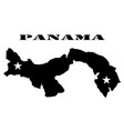symbol of panama map and map vector image vector image