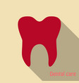 teeth icon dentist flat icon for mobile user vector image vector image