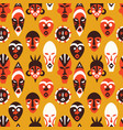 tribal african mask art background pattern vector image