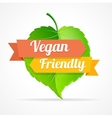 vegan friendly label vector image vector image
