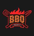 barbecue party logo emblem vector image