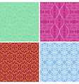 4 seamless patterns with geometric elements vector image vector image