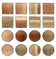 A set of wooden buttons vector image vector image
