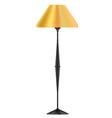 a yellow floor lamp vector image vector image