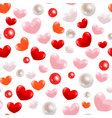 abstract 3d hearts seamless pattern vector image vector image