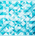 abstract blue triangle and square in light blue vector image vector image