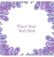 Abstract paisley frame vector image vector image