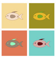 assembly flat icons kids toy fish vector image vector image