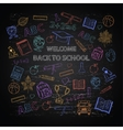 Back to school color set vector image vector image