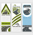 banners set for road travel company vector image vector image