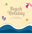 beach holiday background design top view summer vector image