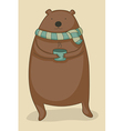 bear with tea vector image vector image