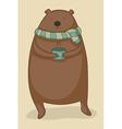 bear with tea vector image