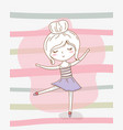 beautiful little girl with pastel colors vector image