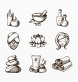 beauty and wellness icon set vector image vector image
