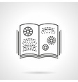 Book on physics flat line icon vector image vector image