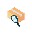 cardboard box searching online shopping isometric vector image